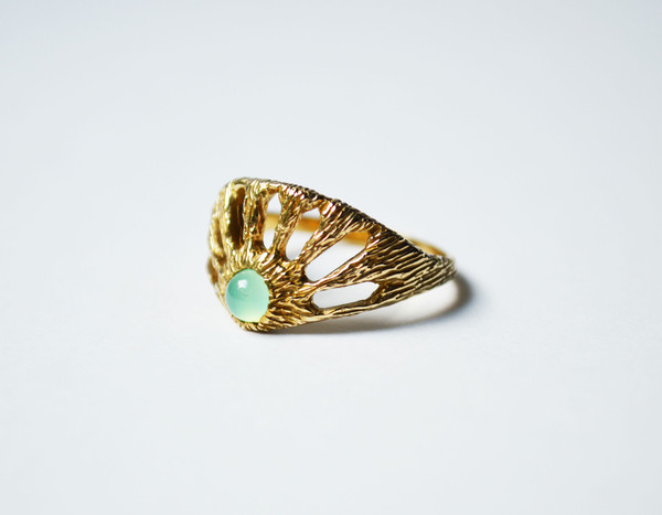 Stefanie Sheehan Window Ring with Chrysoprase