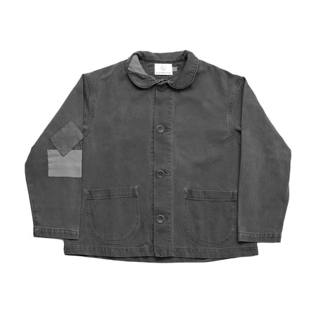 Olderbrother Patched Denim Chore Coat - Gray