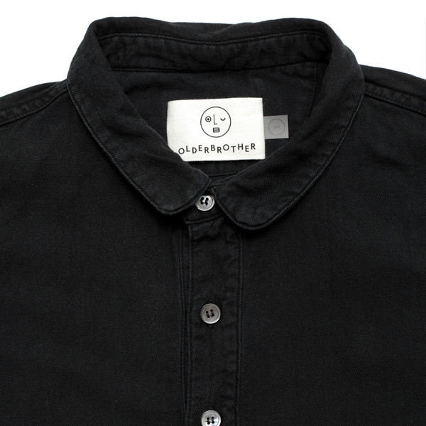Olderbrother Tunic - Black Indigo
