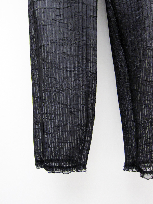 Kahle Pleated Long John, Black