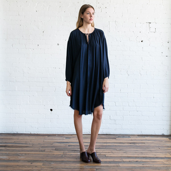 Raquel Allegra Shirred Dress
