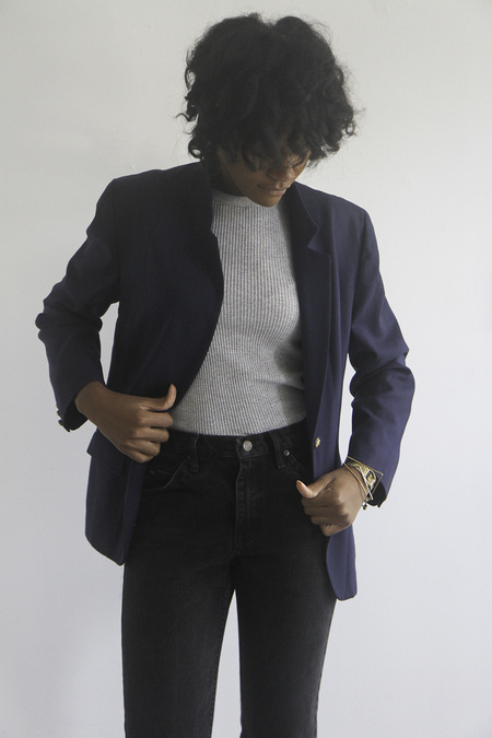 The Shudio Vintage Pendleton Classic Tailored Blazer with buttons