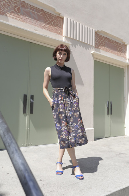 No.6 Parson Skirt in Folk Floral Print