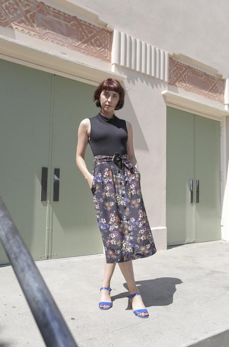 No.6 Parson Skirt in Folk Floral Print