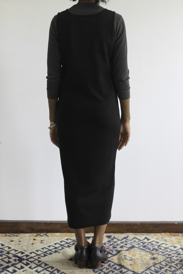 SomeLikeUs Vintage AJ Wool Knit Pocket Dress