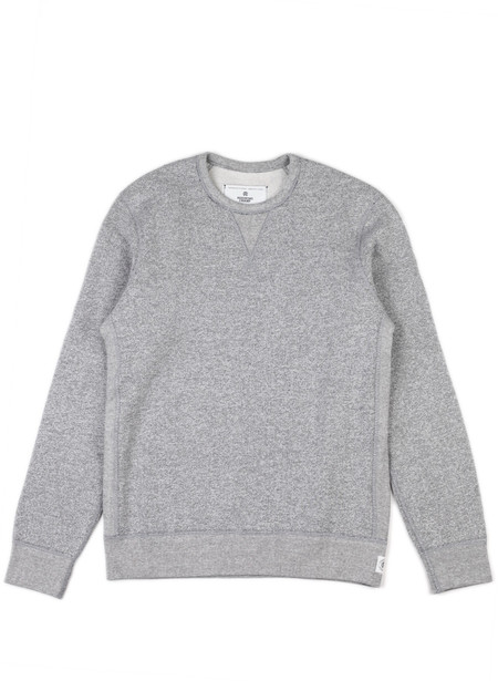 Reigning Champ Long Sleeve Crewneck Tiger Fleece Gray