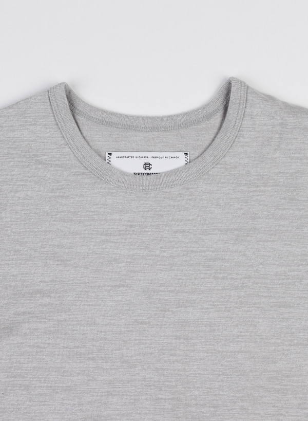 Reigning Champ Set-In Tee Tiger Jersey Grey