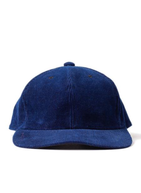 Blue Blue Japan Woven Indigo Hand Dyed Corduroy Baseball Cap