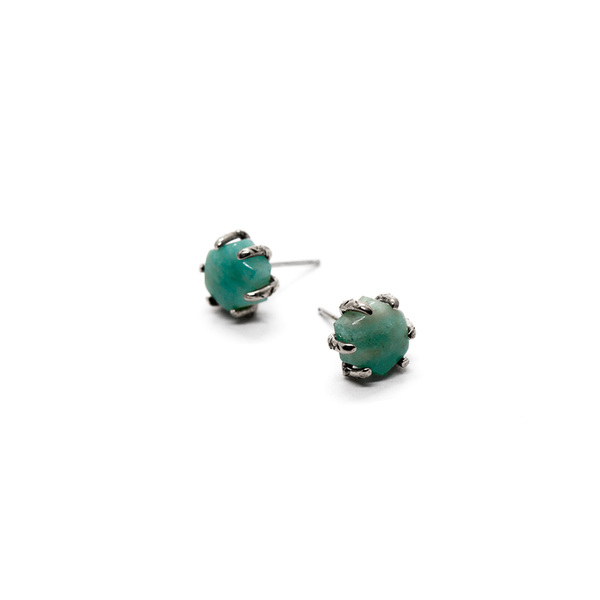 Laurel Hill Jewelry Io Studs // Amazonite