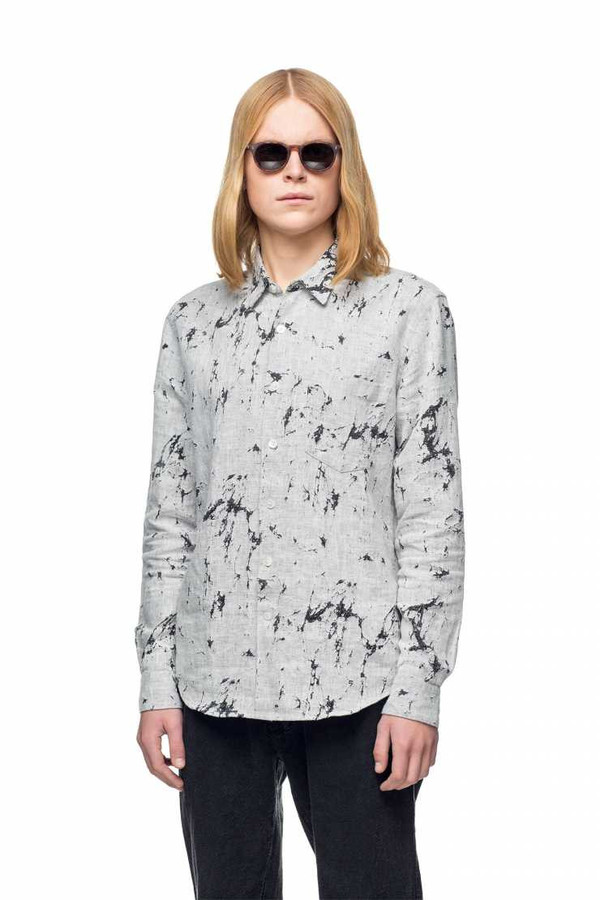 Men's OUR LEGACY - First Shirt Cracked Linen