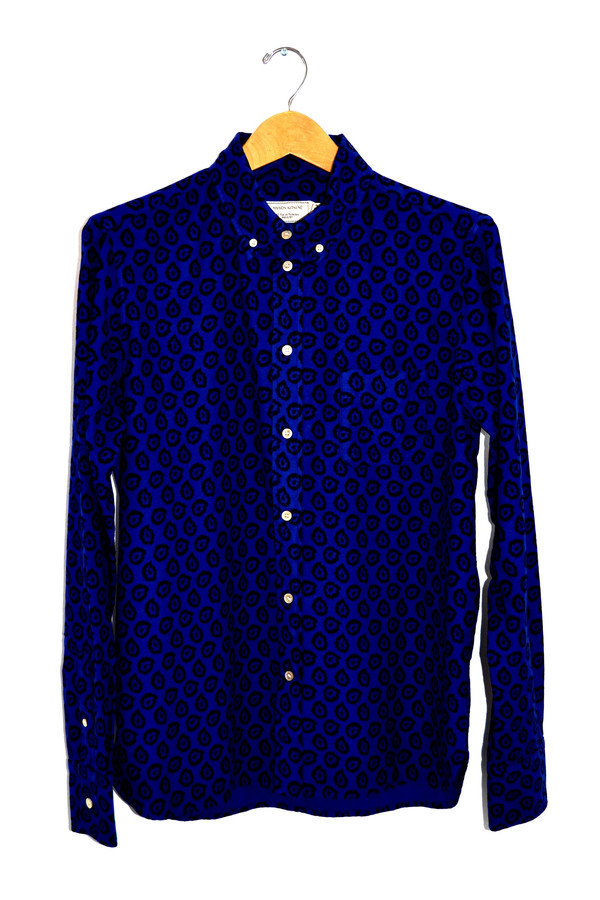 Men's Maison Kitsune Flying Spark Shirt Blue