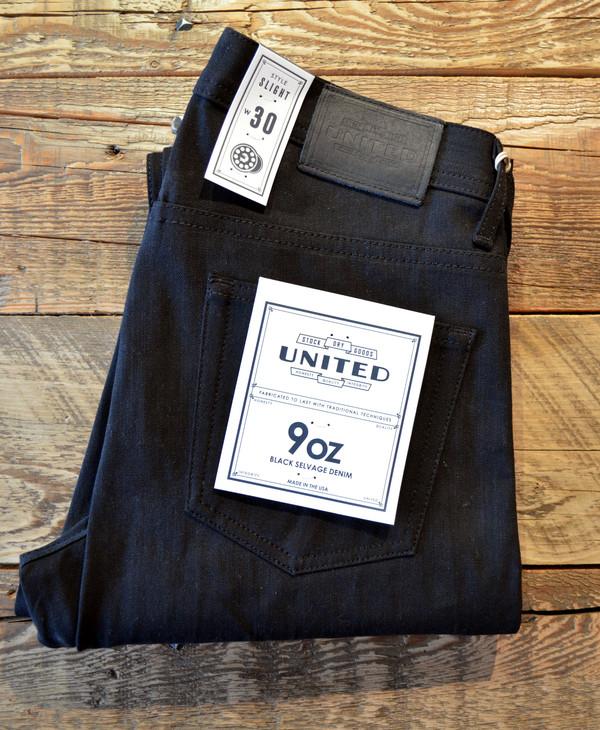 Men's United Stock Dry Goods - Slight Black Selvedge Jeans