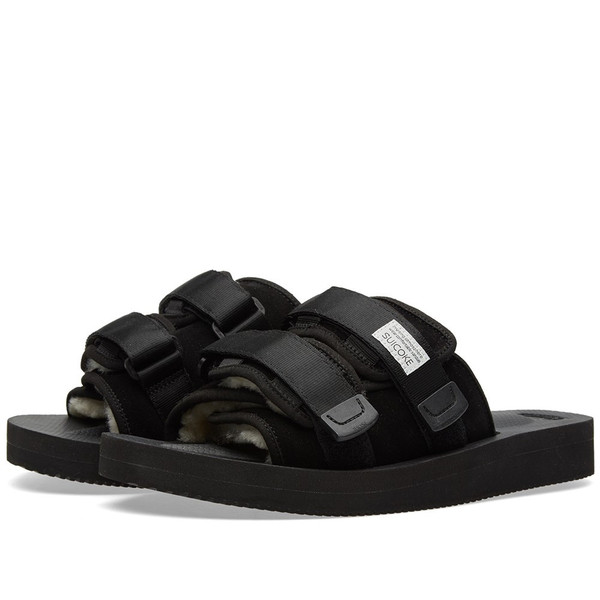 Unisex Suicoke Leather/Nylon Moto-VM Slide