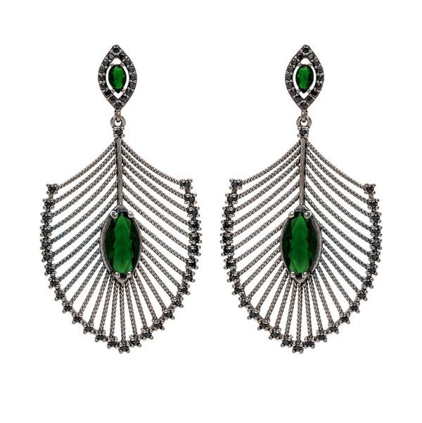 Nickho Rey Peacock Earrings