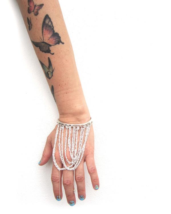 Arielle De Pinto Prestige Cuff in Silver