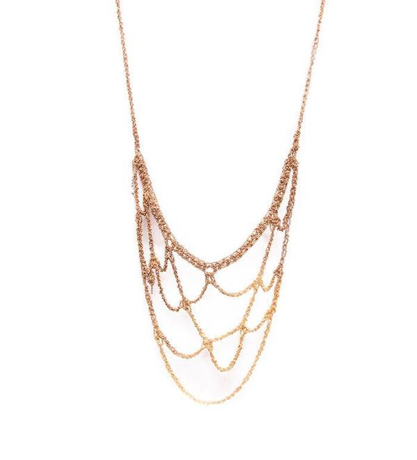 Arielle De Pinto Web Necklace in Gold Gradient