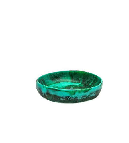 Dinosaur Designs Small Earth Bowl in Emerald Swirl