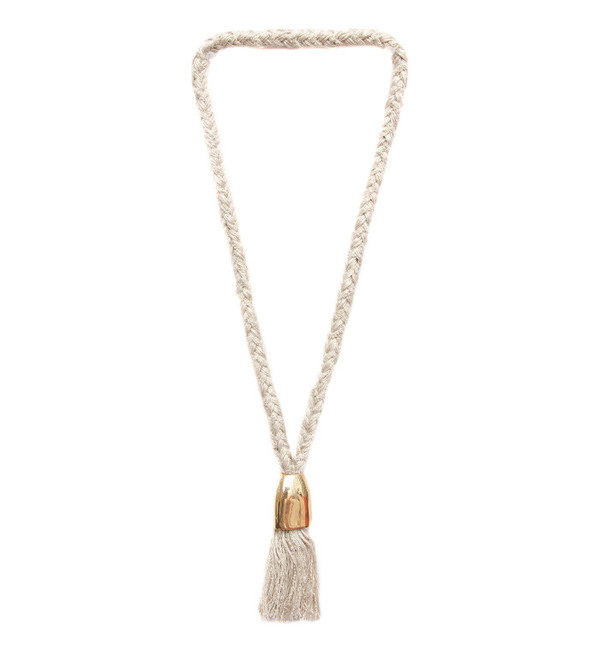 Erin Considine Thick Bell Necklace in Brass