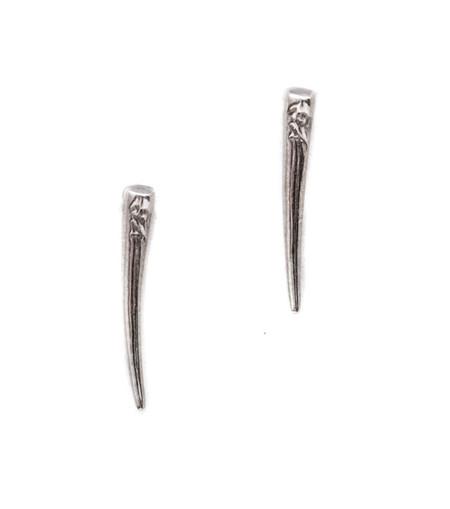 Gabriela Artigas Sterling Silver Tusk Drop Down Earrings