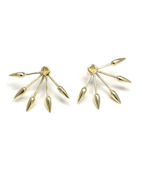 Pamela Love 5 Spike Ear Jacket in Yellow Gold