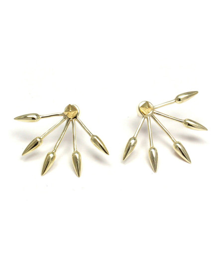 Pamela Love 5 Spike Ear Jacket in Yellow Gold