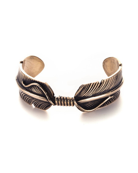 Pamela Love Feather Cuff in Brass