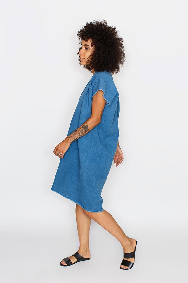 Miranda Bennett -  Everyday Dress, Cropped, Denim in Indigo