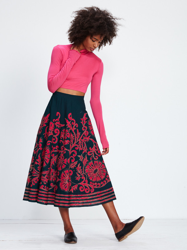 WYMANN CROPPED TURTLENECK / FUCHSIA