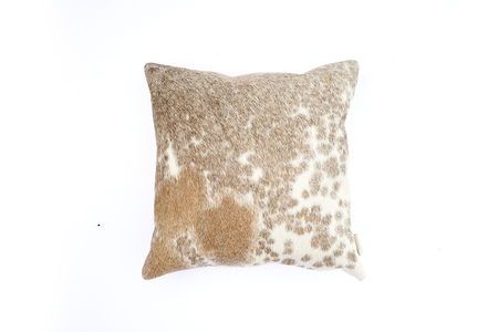 Primecut Tan Spotted Cowhide Pillow