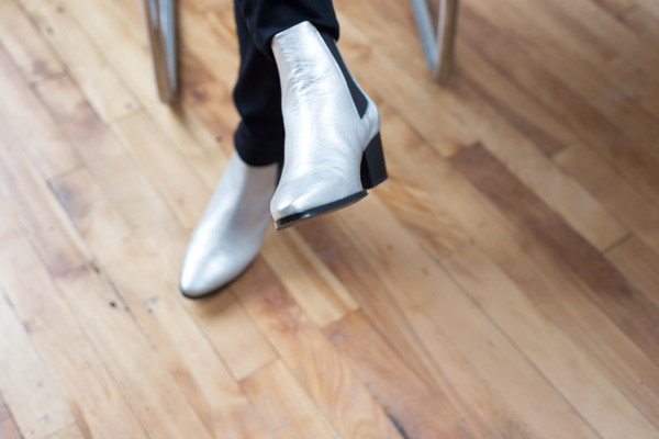 L'Intervalle Gaga Chelsea Boots (Silver)