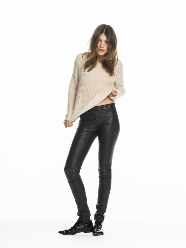 Women's Leather Leggings - Black