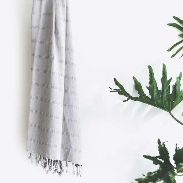 Plaj Texada Stone Washed Towel - Natural