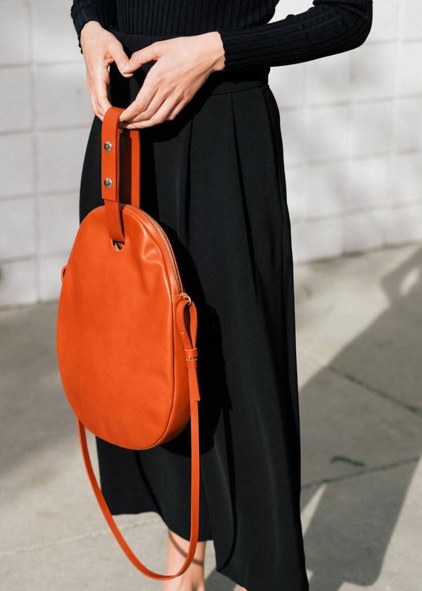 Modern Weaving Oval Zip Bag in Sienna