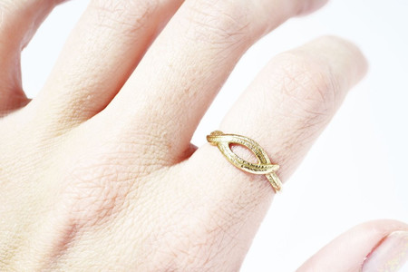 Stefanie Sheehan Woven Palm Ring