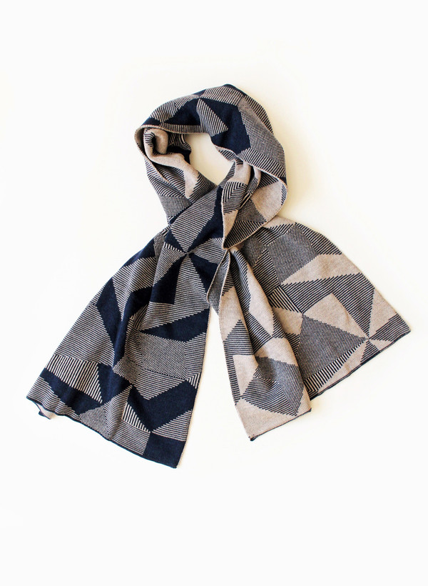 Micaela Greg Blue Spectrum Scarf