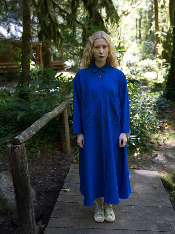 Sunja Link Blue Shirt Dress