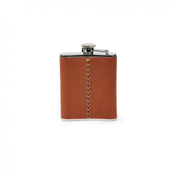 Filson Leather Wrapped Flask Dark Tan