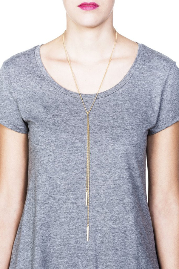 Grayling Lucia Lariat Necklace in Gold