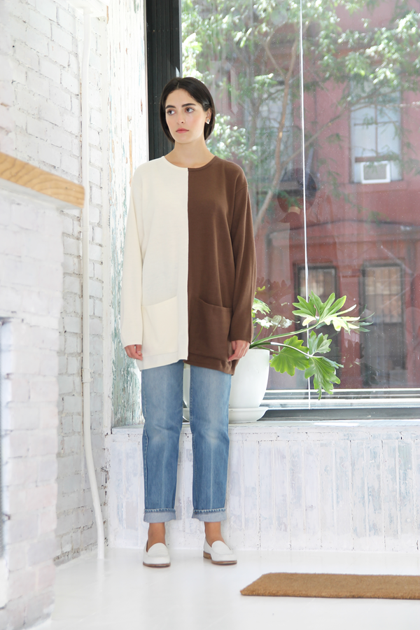 DUO NYC Vintage Color Block Pocket Pullover