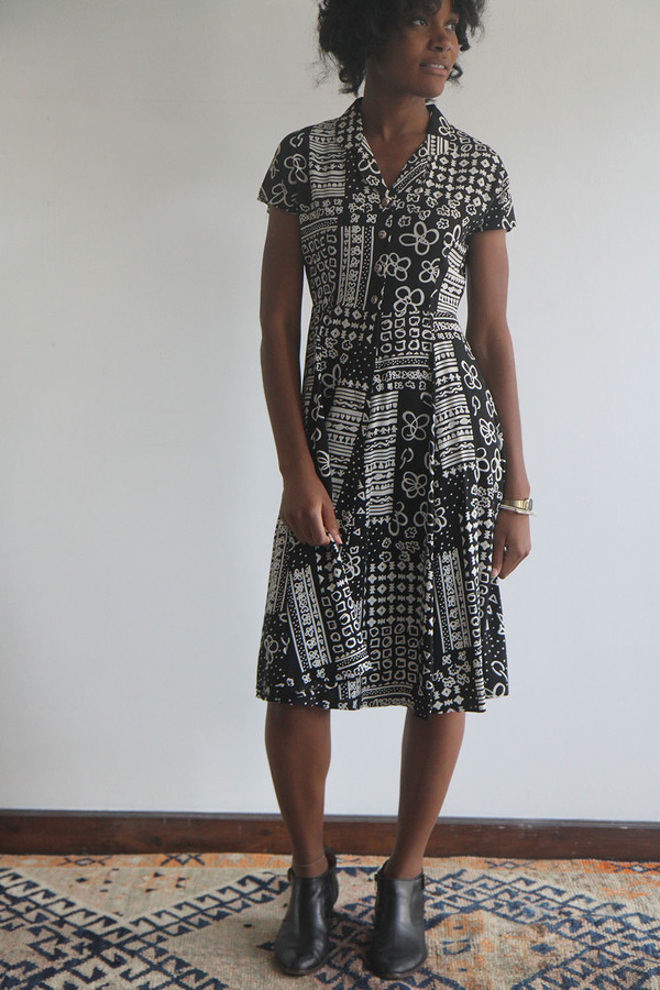 The Shudio Vintage Printed A-Line Dress