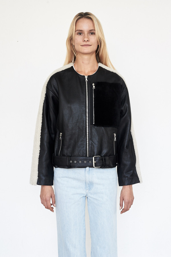 Sandy Liang Leather Rickal Jacket