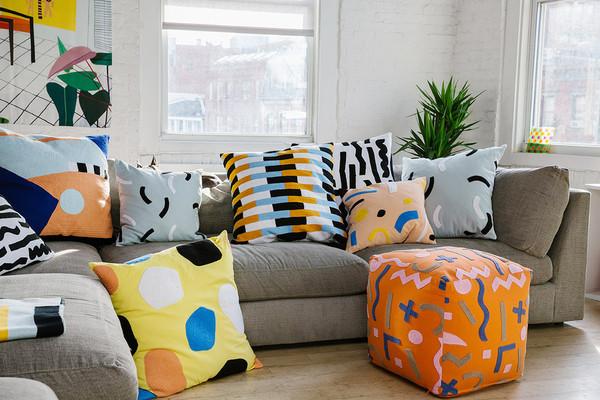 Large 'Paper' Pillow by DusenDusen