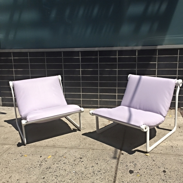 Pair of Hannah Morrison for Knoll Sling Chairs