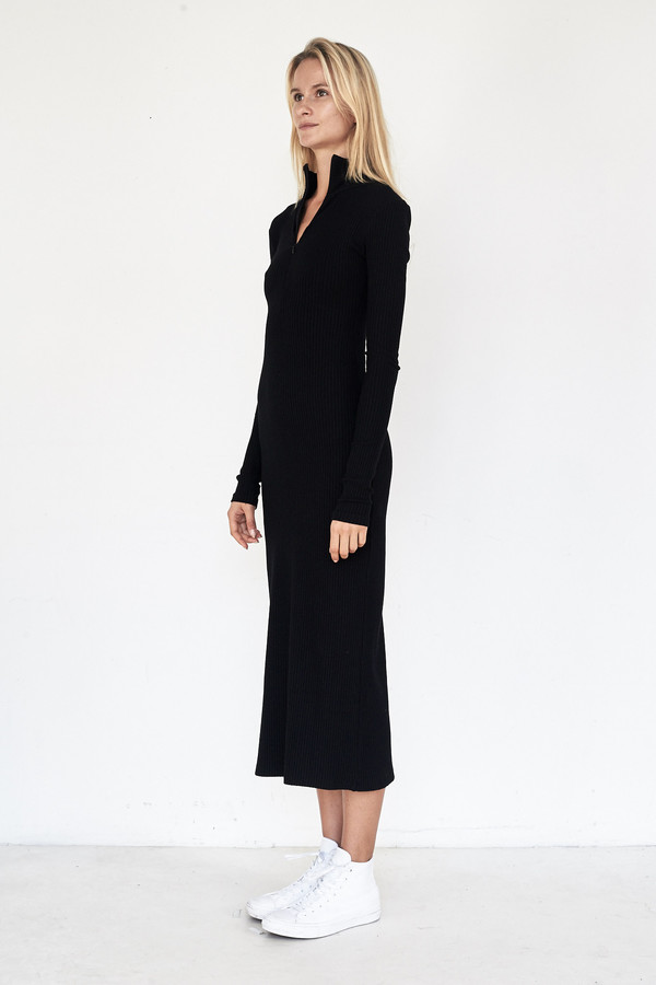 Assembly New York Viscose Ribbed L/S Maxidress