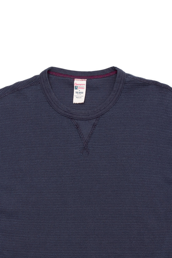 Men's Todd Snyder x Champion Thermal Crew Navy