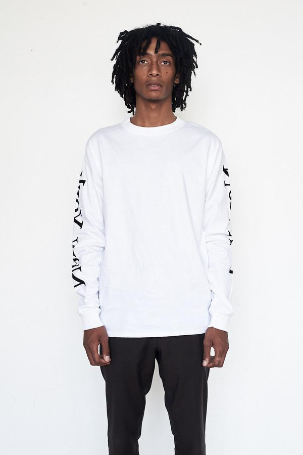 Unisex Assembly New York Cotton L/S New York Logo T-Shirt - White