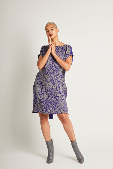 H. Fredriksson Flip Dress in Purpur Pollock Silk