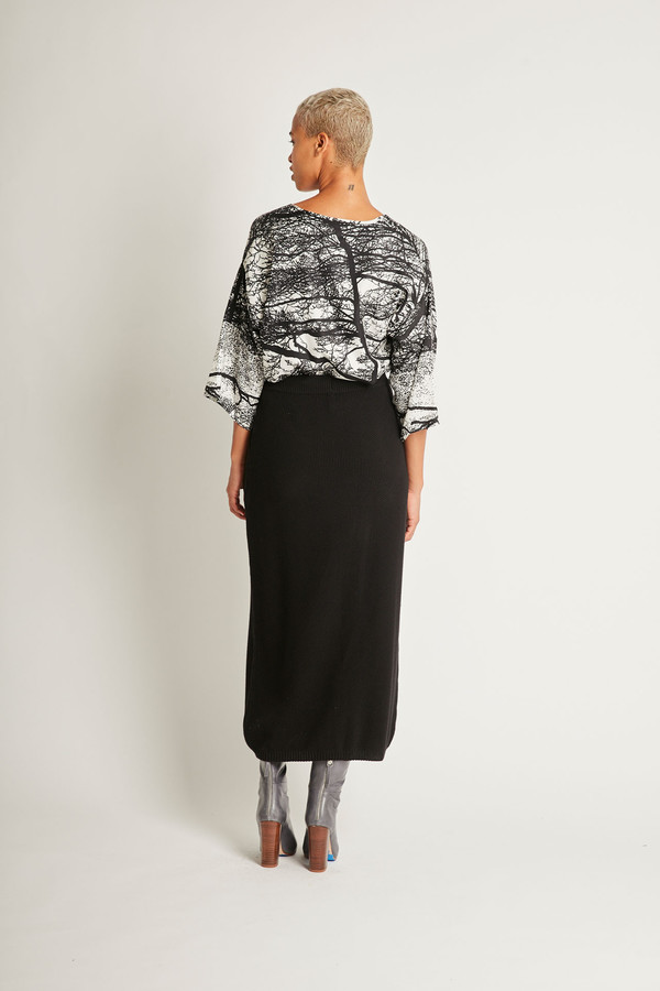 Kowtow Freeway Skirt in Black