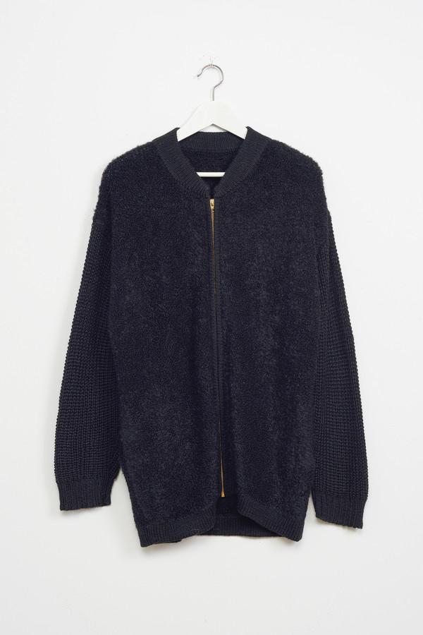 Osei-Duro Boucle Cardigan in Black