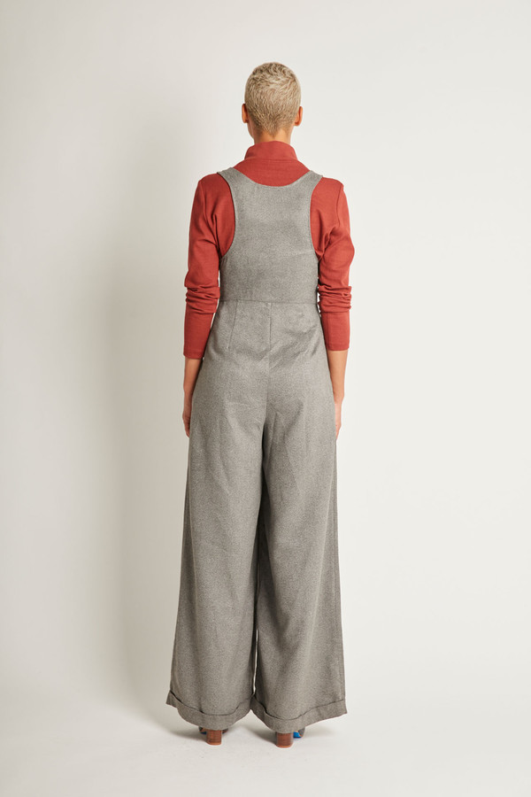 Kurt Lyle Olivia Pants in Charcoal Suede